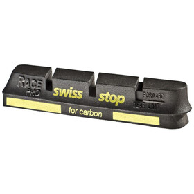 SwissStop RacePro Brake Linings for Campagnolo 10/11S Carbon black/yellow